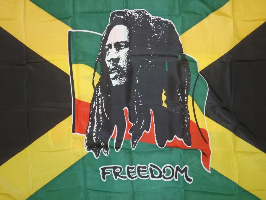 Bob Marley Freedom Flag